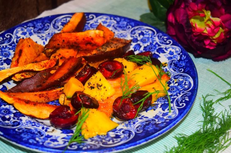 Healthy and delicious cherry and mango salmon recipe from MyNutriCounter