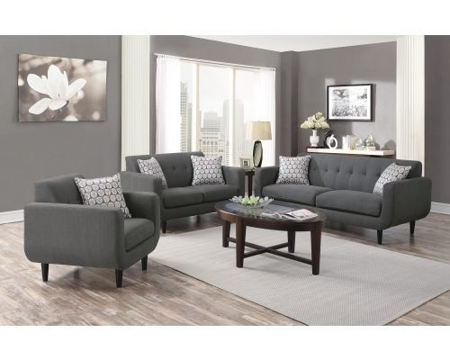 coaster stansall 2pc living room set in gray