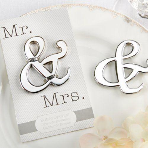 """""""Mr. & Mrs. bottle openers $123"""