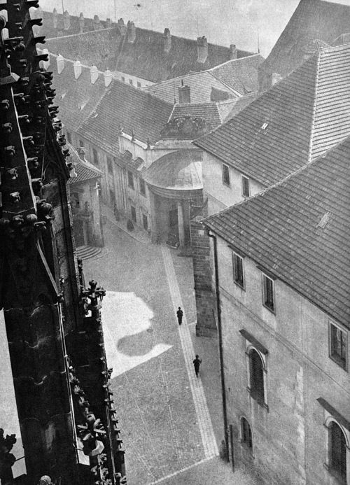 Josef Sudek -- From Poet of Prague: A Photographer's Life. The Noblewomen's Residence seen from the Cathedral Roof, Undated. So beautiful...