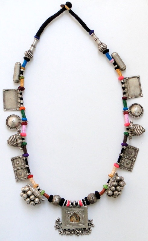 Tribal antique ethnic Vintage old silver necklace jewelry