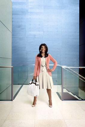This outfit is professional but relaxed, with clean, uncluttered lines and an artistic pop of color.  Read more: http://www.oprah.com/style/Dress-for-Success#ixzz2ZKy4XBFN