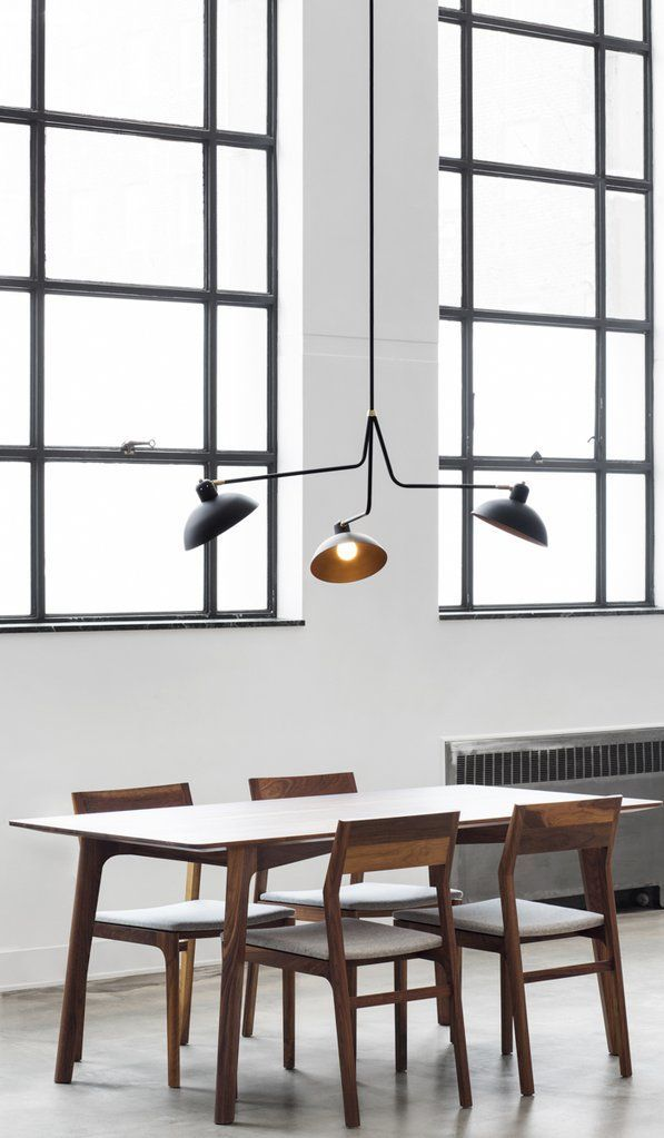 must see mid century style suspension lamps and chandeliers www rh pinterest com