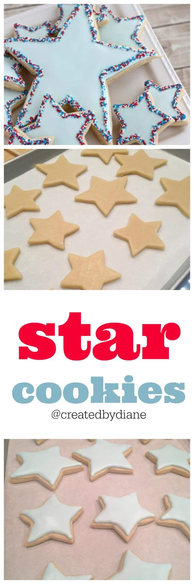cut out sugar cookies with royal icing and sprinkl…