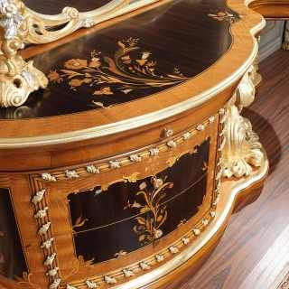 Inlaid baroque toilette, roman baroque style of the seventeenth century bedroom art. 2012