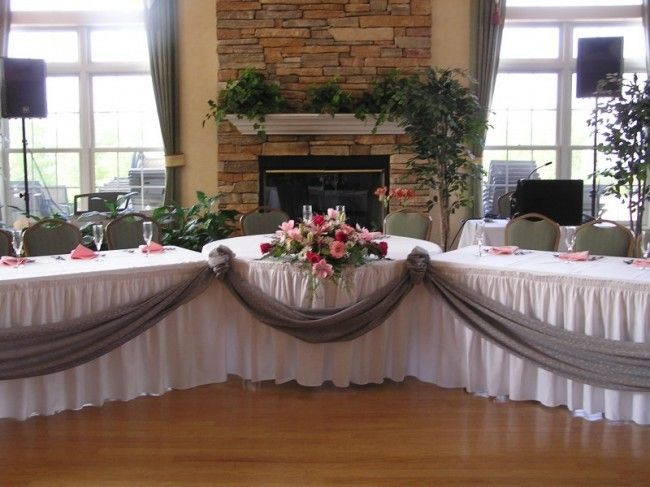Nice Wedding Reception Table Decorations | Photo Gallery   Wedding Reception  Head Table Photo, 650x487 In