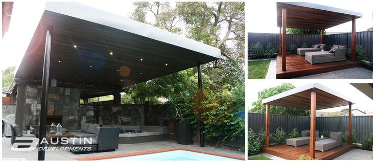 Skillion Roof Line For Pool Lounge Backyard Pinterest