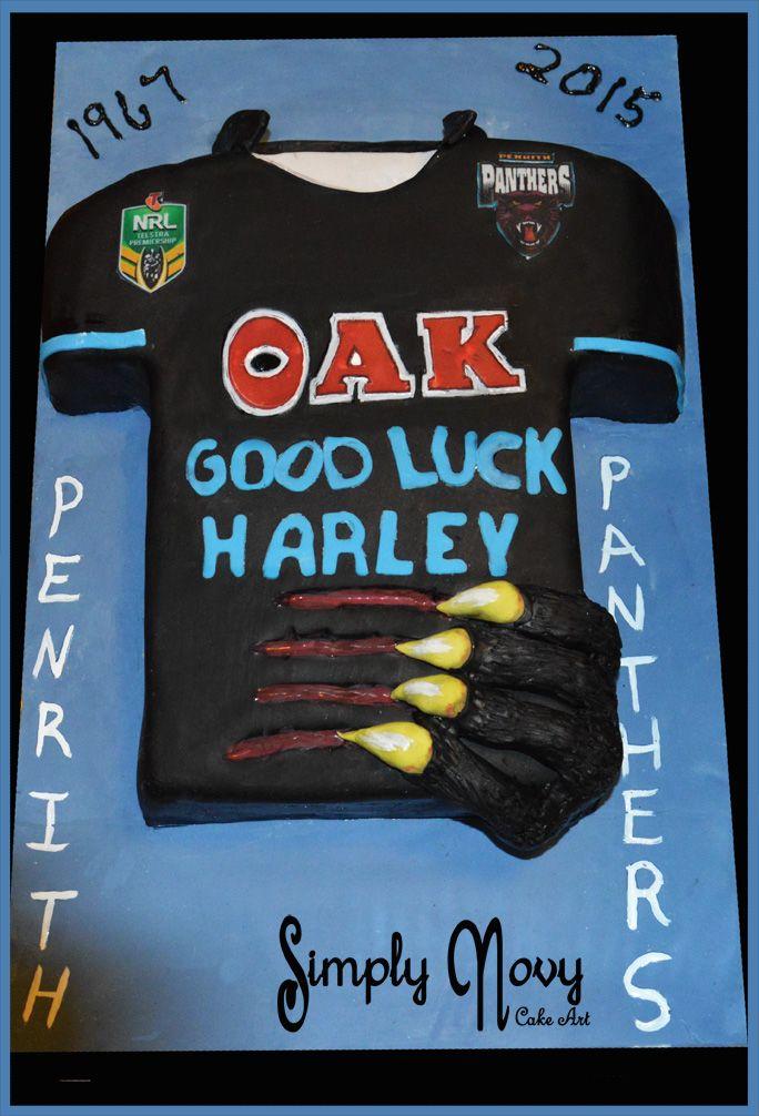 NRL Penrith Panther Shirt Cake