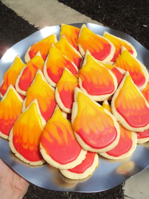 Shavuot......Cookies to remind us of 'the Fire on the Mountain', when YHVH gave His people the Torah on Mt. Sinai.
