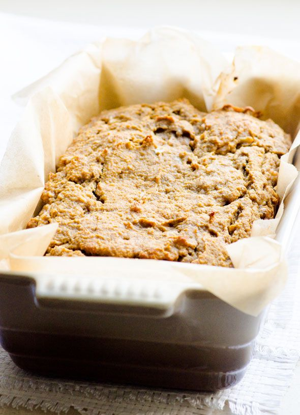 PB Banana Coconut Flour Bread - Naturally sweetened gluten free quick bread. Very simple recipe, no funky ingredients.