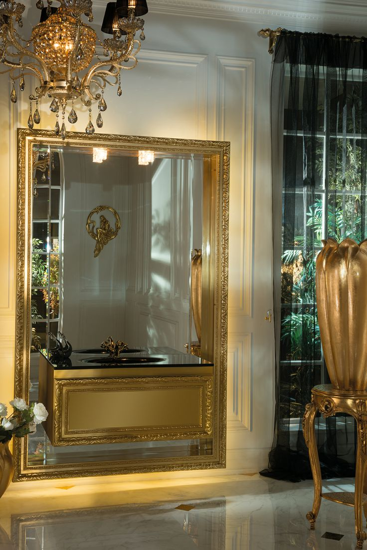 Topex Armadi Art Gold Madraperla Wall Hung Vanity From Our Classic Collection!