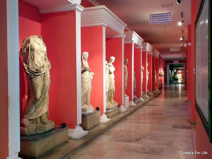 Hall of statues - Antalya Museum, Turkey