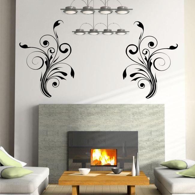 DOUBLE SWIRL Graphic Wall Decals Bedroom Living Room Vinyl Stickers Part 74