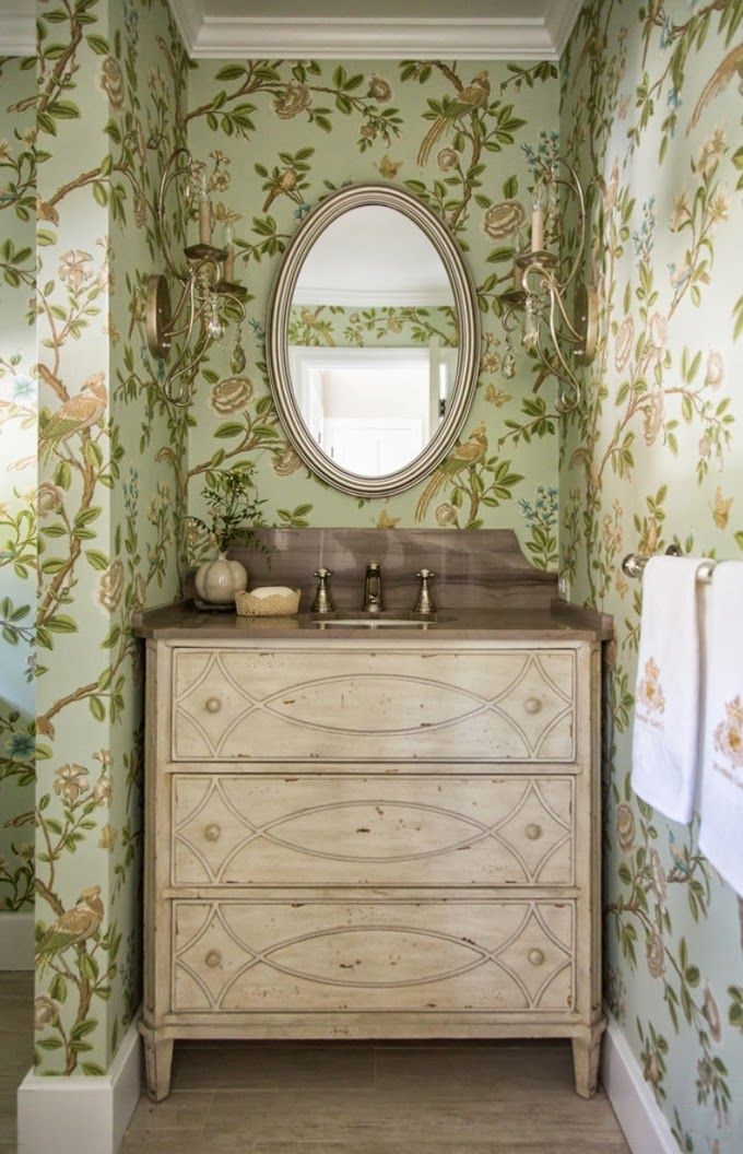 Powder Room Wall Decor 275 best beautiful interiors - powder rooms images on pinterest