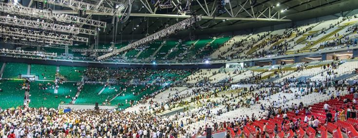 The Philippine Arena, Bulacan near Manilla. 50,000 seats, possibly the largest covered arena in the world!!
