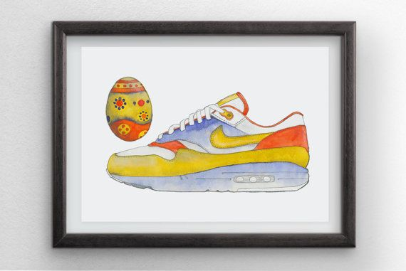 Easter Sneaker by Penfood on Etsy