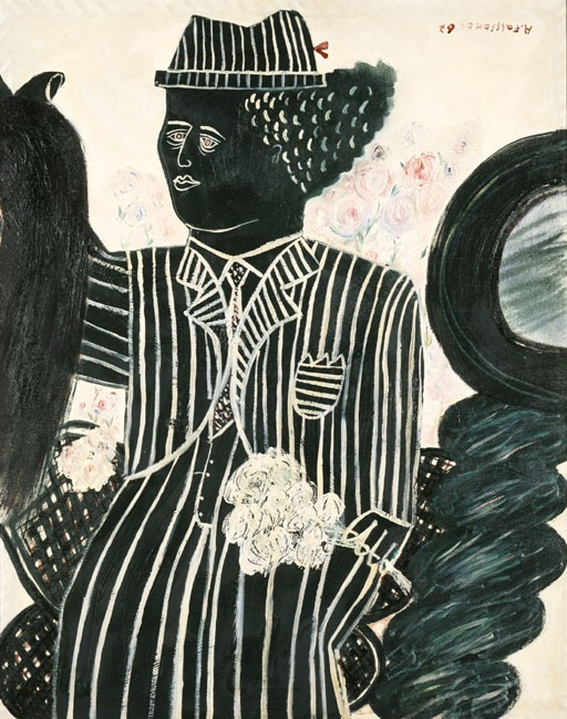 Fasianos Alekos (1935) The Bridegroom, 1967 Φασιανός Αλέκος (1935 ) Ο γαμπρός, 1967 Λάδι σε μουσαμά , 90,5 x 72 εκ.