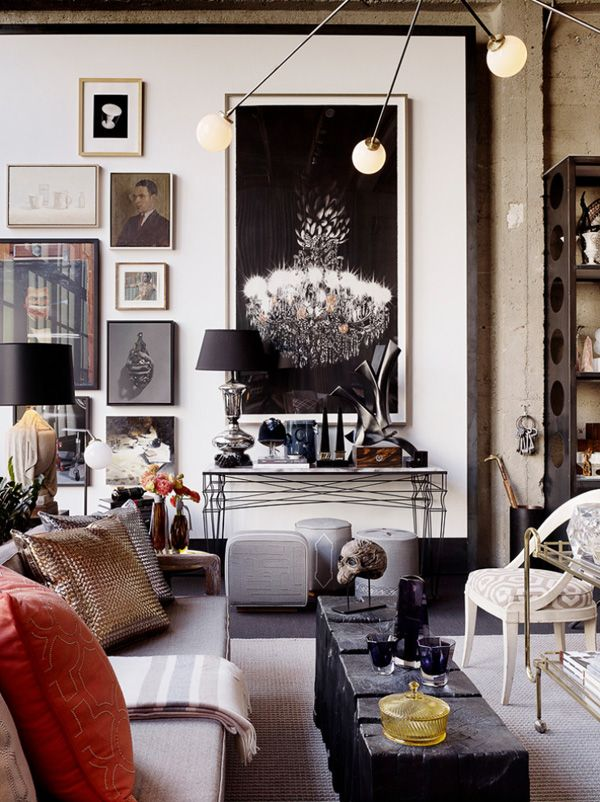 Living Room :  eclectic mix of old and new