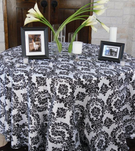 Def Will Be Using Damask Table Cloths Or Runners