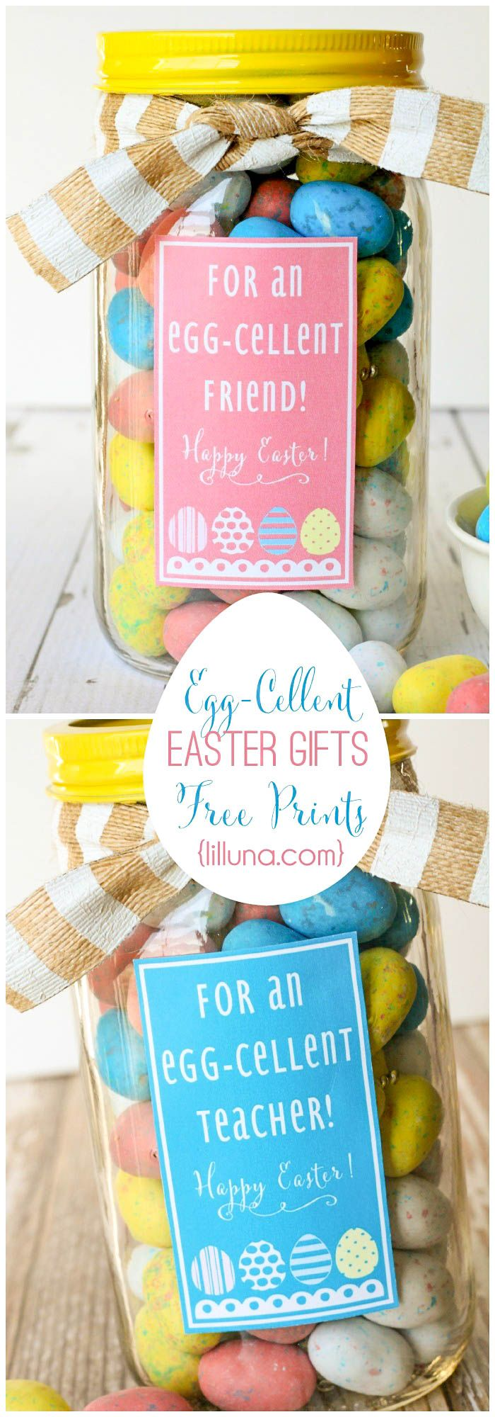 Egg-Cellent Easter Gift Ideas - cute and inexpensive! { lilluna.com } Few supplies needed to make this fun Easter gift.