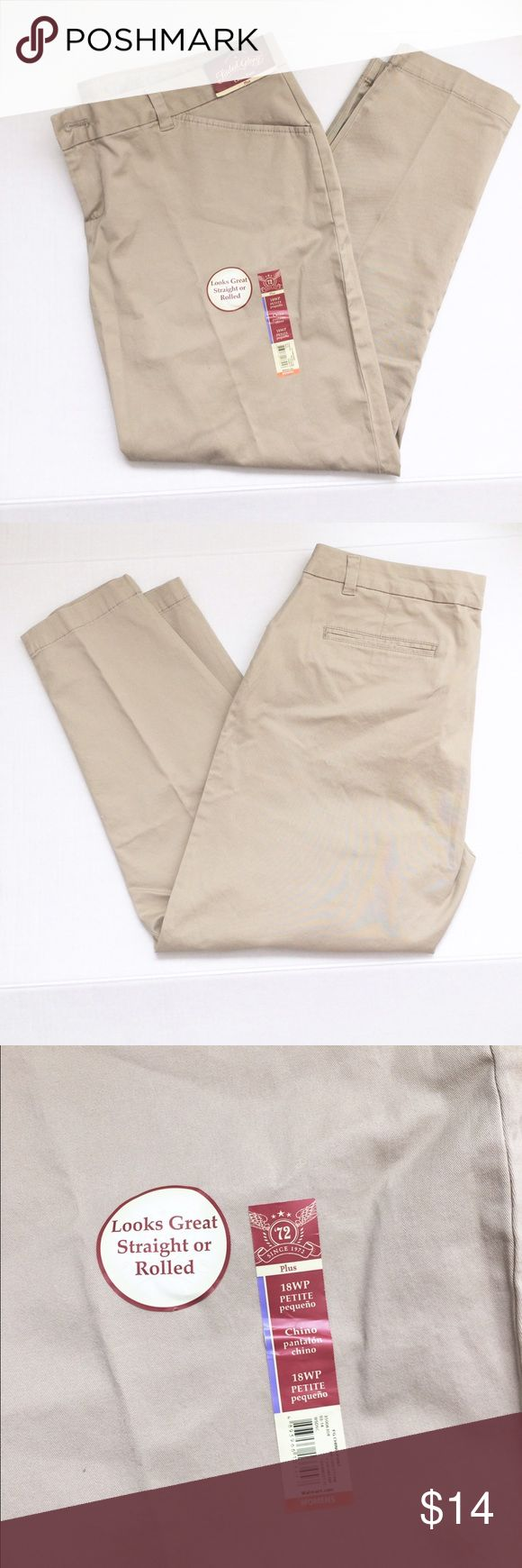 Women's Khaki Pants (NWT) Women Khaki Pants. They are a size 18W Petite. They are Brand New with Tags and have never been worn. They were bought for me when I worked but I can not wear Petite Fit. Measurements Can be Given Upon Request. Price is negotiable so make me an offer!👍🏻 Thank You.☺ ❌No Trades❌ Pants Straight Leg
