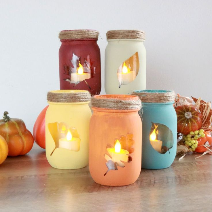 We'll show you how easy it is to make these DIY Fall Leaf Painted Mason Jars for your home decor