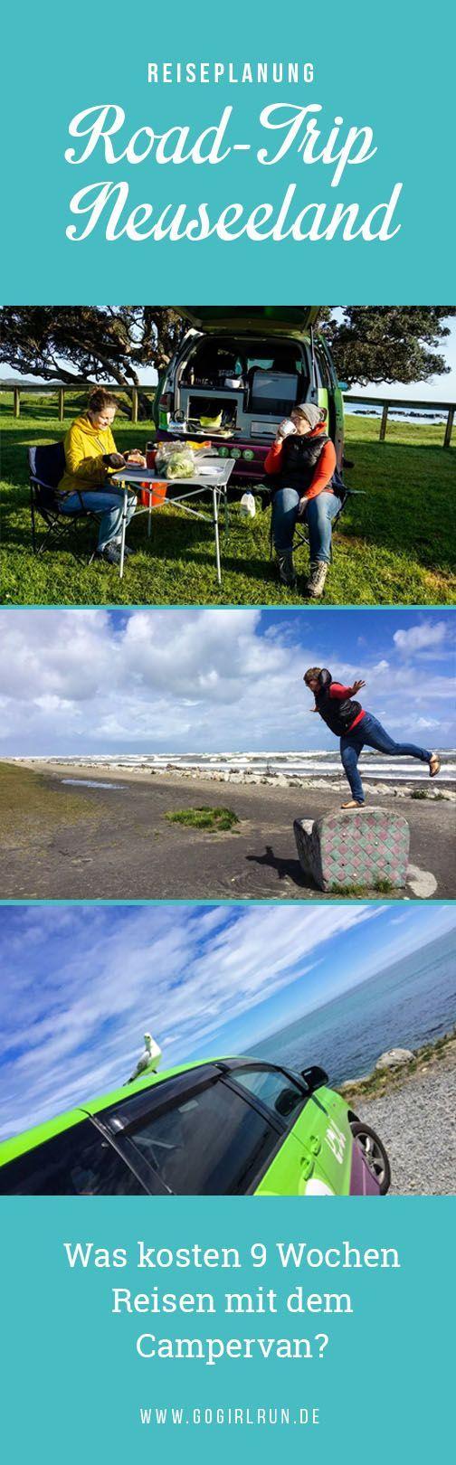Wie viel kosten 9 Wochen Reisen in Neuseeland? Roadtrip mit einem Campervan