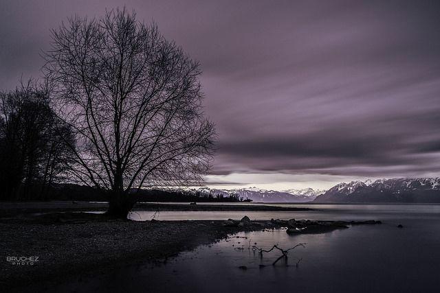 Vidy - Lausanne before the rain - Switzerland
