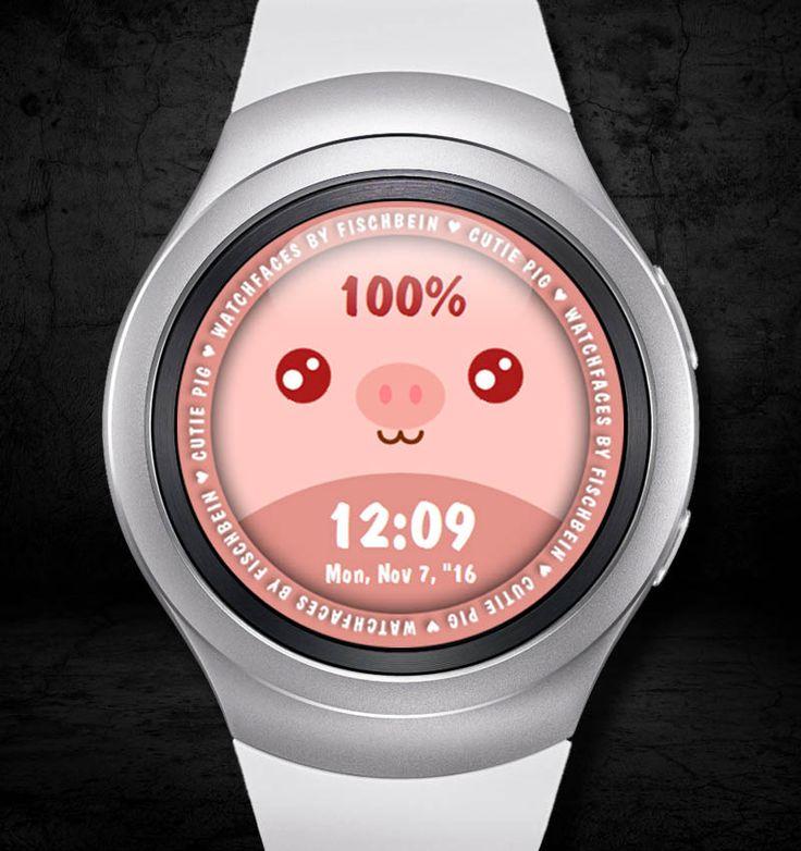 Cutie Pig 24h – Watchfaces by Fischbein