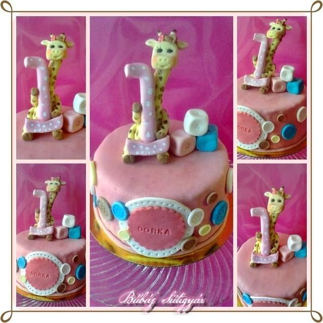 giraffe cake baby cute