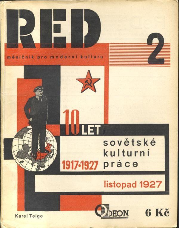 Czech designer Karel Teige, RED, 1927. Masthead  via @thinkstudionyc