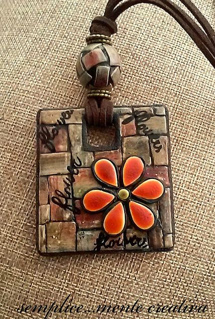Polymer clay pendant | carla benedetti | Flickr