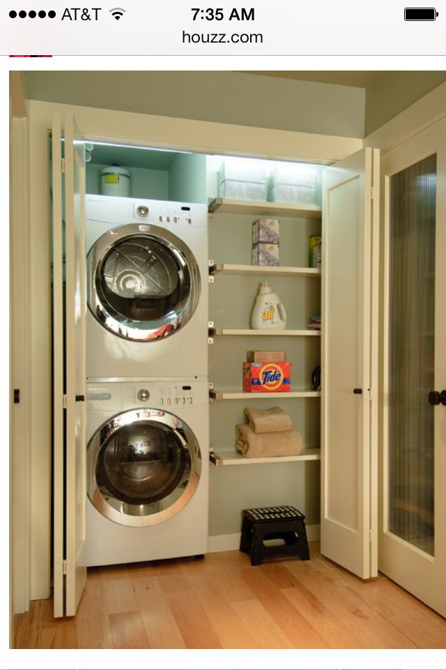 85 best images about stackable washer and dryer on pinterest washers shelves and washer and dryer for Washer and dryer in bathroom designs