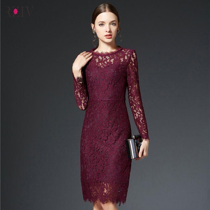 Купить товар2016 принцесса элегантные дамы кружевном платье мода марка с длинными рукавами женщин ну вечеринку платье в категории Платьяна AliExpress.                                        2016 принцесса элегантные дамы кружева платье модно