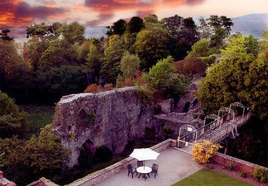 A luxury stay at a former royal residence in the Welsh countryside, with breakfast included and the option to add dinner and a spa treatment