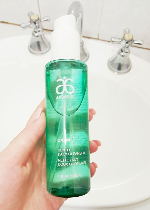 MY NIGHT TIME ROUTINE : cleanser - Arbonne Gentle Daily Cleanser