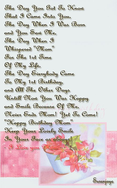 24 best Love poems for mom images – Birthday Greetings to My Mom