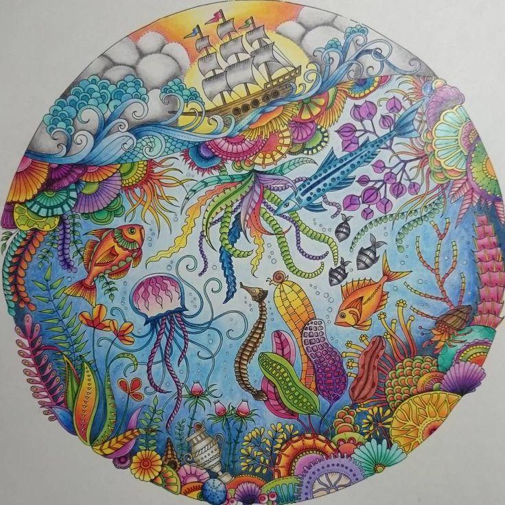 joanna basford coloring book colouring pencil lost markers drawings design mandalas