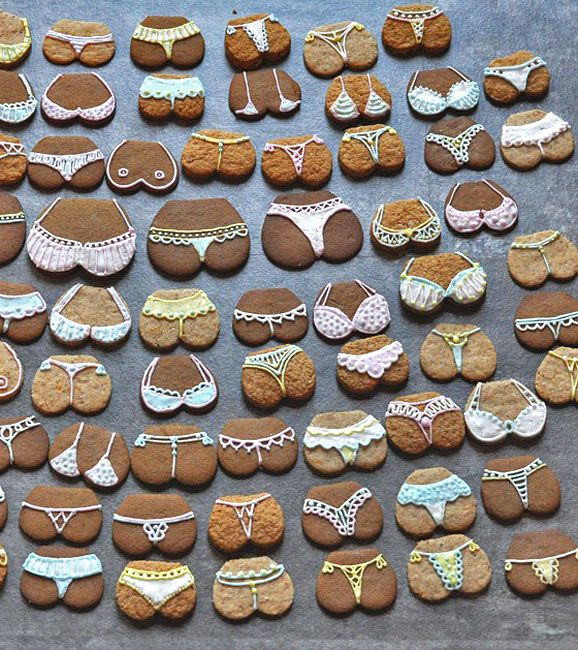 Nothing like some sexy lingerie... cookies for Valentines day. Bake some up -- use a heart shape cut out.
