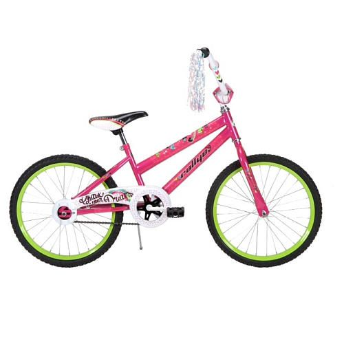 The Rallye 20 inch Summer Miss Bike is all about feeling carefree and having fun. The 20 inch bike in pink has plenty of pretty accents and beautiful streamers.