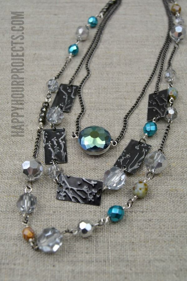 Best DIY Jewlery Necklaces Images On Pinterest Necklaces - Bright diy layered button necklace