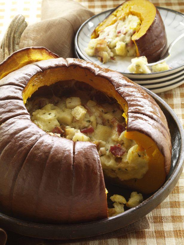 Stuffed Pumpkin Recipe --> http://www.hgtvgardens.com/recipes/savory-stuffed-pumpkin-recipe?soc=pinterest