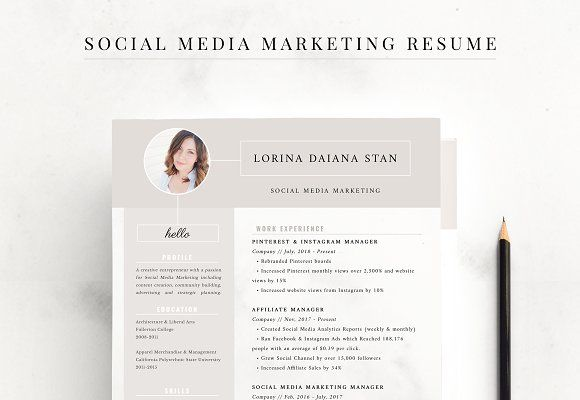 Resume Social Media Marketing Social Media Marketing Marketing Resume Blog Marketing