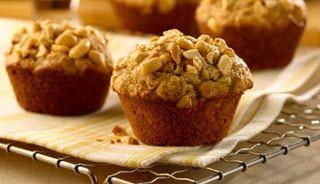 Muffins au beurre d'arachide et aux bananes