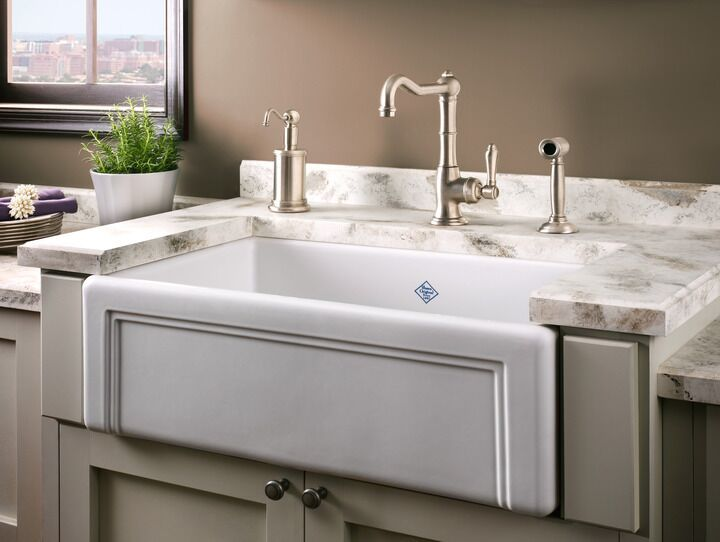 The Rohl Shaws Egerton Casement Edge Front Fireclay Kitchen Sink S