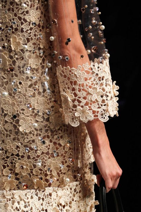 ✕ Lace, beading and incredible details… / #couture #design #fashion #style: Couture Design, Floral Patterns, Lace Lace, Fashion Details, Fashion Styles, Design Fashion, Dolce & Gabbana, Crochet Lace, Lace Details