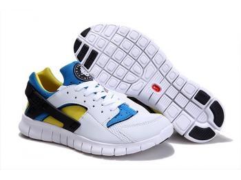 Cheap Nike Huarache Free Mens Run Trainers Size UK 11 LE White / Yellow Sale UK -Nike Huarache Free