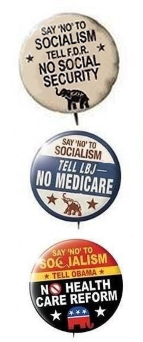 The history of the republican party. House Republicans on Thursday attacked President Barack Obama after word from the White House that his fiscal 2015 budget drops proposed cuts to Social Security benefits. The GOP also criticized Obama for a Medicare rule change that would squeeze drugmakers, pharmacies and health insurers.