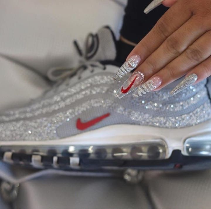 Pin By Shannon La Paix On Fly Kicks Nike Nails Shoe Nails Best Acrylic Nails