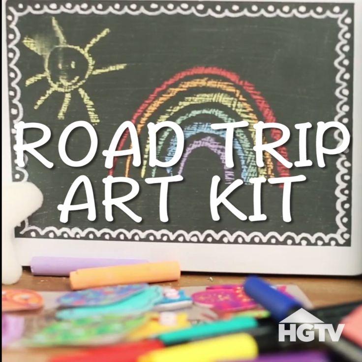 Keep Kiddos Busy on Long Car Rides: DIY Road Trip Art Kit